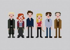 Buffy the Vampire Slayer characters cross stitch pattern. Free ($0).