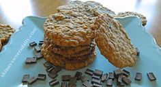Skinny Sweets Daily: Delicious Gluten Free Chocolate Chip Oatmeal Cookies