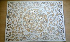 Paper cutting project on 70x50 cm white this paper by Matthew Vidalis