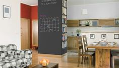 Dry erase paint...never knew about this! Back to school DIY crafts: Idea Paint wall calendar