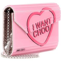 Jimmy Choo Candy Box Clutch (44.060 RUB) ❤ liked on Polyvore featuring bags, handbags, clutches, jimmy choo purses, hardcase clutch, pink handbags, pink purse and jimmy choo clutches