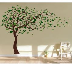If you have been bored of painting walls, using stencils and putting up wallpapers, use this gorgeous wall decal and sticker for decoration. It will make your room shine without damaging your walls or the bank. It will make your room shine without damaging your walls or the bank. Default colors tree trunk-dark brown, leaves-leaf green plus lime tree green. In the decal package, you will get your decal, step by step instruction, installation tool and free sample decal for practice. Original…