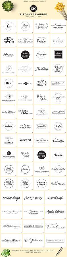 120 Elegant Branding Logo Pack  by XpertgraphicD on @creativemarket