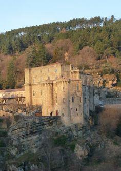 Largentière - The castle of Bonnegarde - Ardèche dept. -   Rhône-Alpes region,  France   photo: juanje07        ...www.panoramio.com