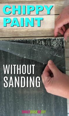 How To Chippy Paint Without Sanding or using vaseline. The DIY chippy paint technique that saves time and mess. How To Chippy Paint Without Sanding or using vaseline. The DIY chippy paint technique that saves time and mess. Wood Crafts Furniture, Paint Furniture, Diy Wood Projects, Furniture Projects, Furniture Makeover, Woodworking Projects, Woodworking Furniture, Furniture Plans, Simple Furniture