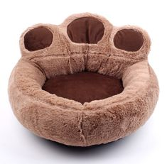 Bear's Paw Comfortable Round Soft Plush Dog Bed Cat Pet Warm House Warm Sofa * Click on the image for additional details. (This is an affiliate link and I receive a commission for the sales) #Kitty