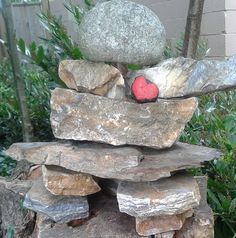 "Inukshuk-adam and i had seen these all over in canada, we even have our own little one but will build one in our garden-means ""may the inukshuk be your guide for a safe journey throughout your life's travels."" <3 it!"