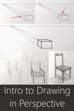 Basics drawing tutorial for linear and atmospheric perspective. How to draw from imagination, when to use one-, two- or three-point perspective and what is foreshortening. Easy basics guide for beginners. Perspective Drawing Lessons, Perspective Art, Perspective Pictures, Basic Sketching, Basic Drawing, Drawing Guide, Three Point Perspective, Architecture Concept Drawings, Architecture Models