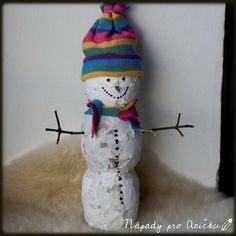 Kašírovaný sněhulák Winter Crafts For Kids, Kids Crafts, Snowman, Disney Characters, Decor, Decoration, Decorating, Dekorasyon, Dekoration