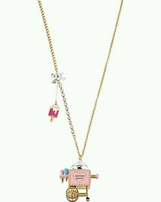 Betsey Johnson Cotton Candy Cart Necklace