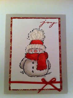 snowman joy by aulani - Cards and Paper Crafts at Splitcoaststampers