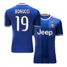 Juventus Away 16-17 Season Blue #19 BONUCCI Soccer Jersey [H491]