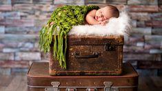 Śpiące, Dziecko, Walizki, Kocyk