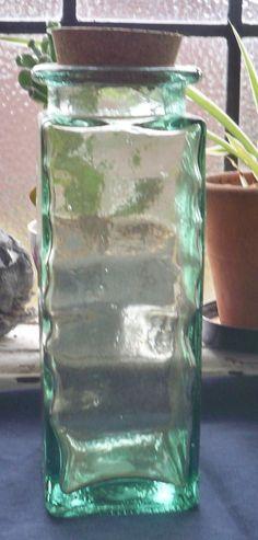 Tall Glass jar by BitsandpiecesBySusan on Etsy