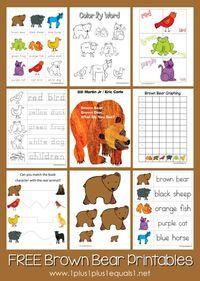 Brown Bear, Brown Bear Printable Pack from @{1plus1plus1} Carisa