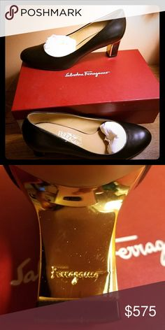 Ferragamo Calf skin heels 3 inch heel. Worn to one event. Very comfortable with soft, supple leather. Salvatore Ferragamo Shoes Heels