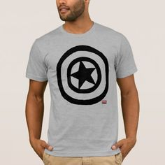 Shop Pop Captain America Logo T-Shirt created by marvelclassics. Personalize it with photos & text or purchase as is! Logan, Captain America Logo, Shield Icon, Comic Styles, Logo Nasa, American Apparel, Heather Grey, Fitness Models, T Shirt