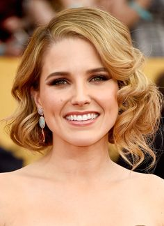 Sophia Bush from Get the Look: Hair & Makeup from the 2015 SAG Awards  Makeup Artist Vanessa Scali created this bronzed smoky eye on the star. Bush's faux bob masterpiece was done by Creighton Bowman.