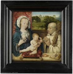 Saint Bernard Praying to the Madonna and the Child (also known as 'The Vision of Saint Bernard') (Musée du Louvre (France - Paris)) ヨース・ファン・クレーフェ Louvre Paris, World Famous Artists, Paris France, Madonna, Renaissance, Pray, Saints, Children, Painting