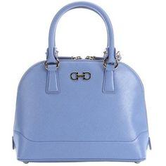 Salvatore Ferragamo Periwinkle leather small gancini convertible top handle bag