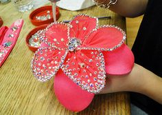 How to bling flowers! Blinging an accent flower for a ballroom dancer's costume - Bling It On Photo Sneak Peek: Bling It On: TLC
