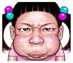 Angry face of children - Stiker LINE Anime Scenery Wallpaper, Cute Disney Wallpaper, Funny Angry Face, Dream Catcher Wallpaper Iphone, Angry Emoticon, Macaroon Wallpaper, Funny Face Drawings, Realistic Cartoons, Doodle Girl