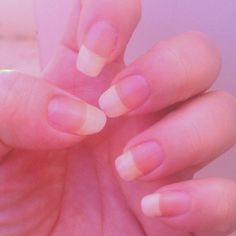 Here's a shot of my naked nails #nakednails #nails