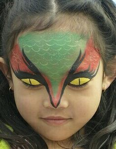 face painting for kids - Bing Images Dragon Face Painting, Body Painting, Snake Face Paint, Halloween Makeup, Halloween Face, Costume Halloween, Snake Costume, Dragon Makeup, Book Costumes