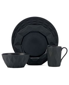 kate spade new york Dinnerware, Castle Peak Slate Collection - Casual Dinnerware - Dining & Entertaining - Macy's