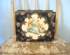 Vintage Victorian Celluloid box. Shabby by MysteryMisterAntique
