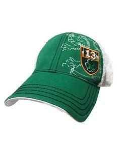 Irish Lion Shamrock 13 St Patricks Day Flag Trucker Mesh Hat Snapback Adidas  #Adidas #TruckerHat