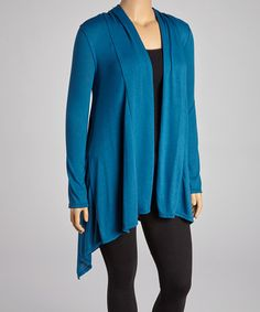 Another great find on #zulily! Teal Open Cardigan - Plus #zulilyfinds