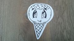 ijsje met spikkels getekend