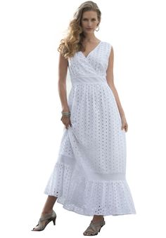 Eyelet Maxi Dress Roaman's