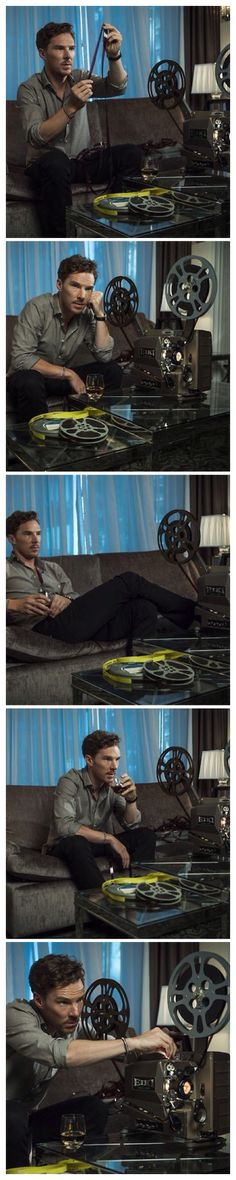 Benedict Cumberbatch <-- can't even describe how much I would LOVE to be curled up on that couch next to him...❤️❤️❤️