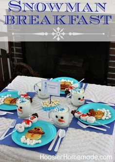 Snowman Breakfast for the Kids with Free Printables