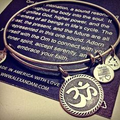 Wishlist- Alex and Ani Om Charm Bangle- Mom has the Gold but the Silver is cute too. Decisions decisions decisions