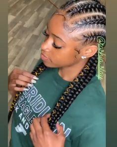 85 Box Braids Hairstyles for Black Women - Hairstyles Trends Braided Cornrow Hairstyles, Feed In Braids Hairstyles, Braids Hairstyles Pictures, Braided Hairstyles For Black Women, Braids For Black Hair, African Hairstyles, Wig Hairstyles, Sport Hairstyles, Athletic Hairstyles