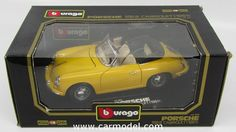 BURAGO 3031 1/18 PORSCHE 356B CABRIOLET 1961
