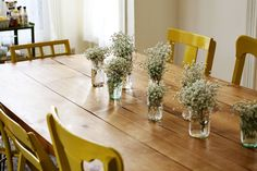 DIY Dining Room Table (by A Beautiful Mess) - can I actually do this? Something to check into!
