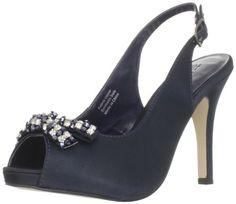Paco Mena Women's Gardenia Platform Pump,Navy,38 EU/8 M US  #Paco_Mena #Shoes