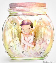 Jyushimatsu angel in a bottle~ (Religion-matsu) Dark Anime Guys, All Anime, Me Me Me Anime, Glass Cages, Onii San, Otaku, Handsome Anime Guys, Anime Angel, Avatar Couple