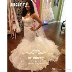 Cascading Tiered Ruffles Mermaid Wedding Dresses 2017 Vintage Lace Sweetheart Corset Plus Size Sequined Beaded Country Arabic Bridal Gowns 2017 Wedding Dresses Plus Size Wedding Dresses Arabic Wedding Dresses Online with $267.43/Piece on In_marry's Store | DHgate.com
