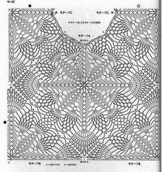 1 (530x564, 143Kb) Crochet Edging Patterns, Crochet Diagram, Crochet Motif, Crochet Designs, Crochet Doilies, Crochet Top, Crochet Jacket, Crochet Blouse, Thread Crochet