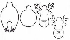 3D Reindeer Template