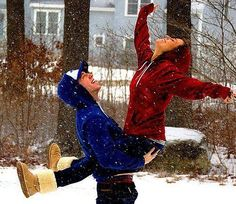 Love! Let's play in the snow together <3