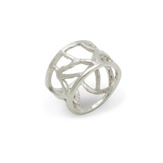 """Love this! Found it on Journey Accessories The gleaming sterling silver Jenna ring will highlight everything you have on. Jenna's intricate branch-like design is sure to turn heads.   - Sterling silver - 1/2"""" wide - Sized 6 to 9 Item # EMG10001013 $54"""
