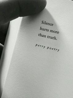 Silence hurts more than truth Poem Quotes, True Quotes, Words Quotes, Motivational Quotes, Inspirational Quotes, Qoutes, Sayings, Silence Hurts, Quotes Deep Feelings