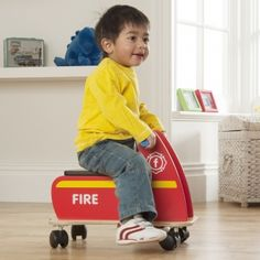 Zoomster Fire Engine - available direct from KidsPlayKit with Free Next Day Delivery! Come take a look at our wide range of UK made wooden toys!