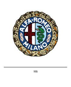 Marchio Alfa Romeo del 1935